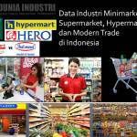 Data Industri Minimarket, Supermarket, Hypermarket di Indonesia