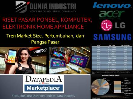 "<span itemprop=""name"">Riset Pasar Ponsel, Komputer, dan Elektronik Home Appliance (Tren Market Size dan Pangsa Pasar)</span>"