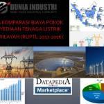 Data Komparasi Biaya Pokok Penyediaan Tenaga Listrik Per Wilayah (RUPTL 2017-2026)