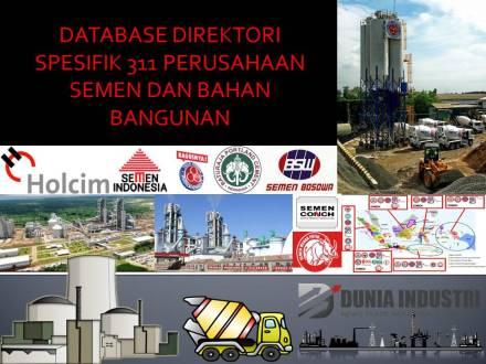 """<span itemprop=""""name"""">Database Direktori Spesifik 311 Perusahaan Semen dan Bahan Bangunan (Update 2020)</span>"""