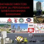 Database Direktori Spesifik 311 Perusahaan Semen dan Bahan Bangunan (Update 2020)