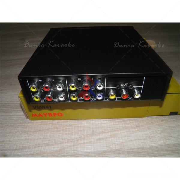 Audio Video Selektor Maypro VSW41 4 input 1 output tampak Cover :