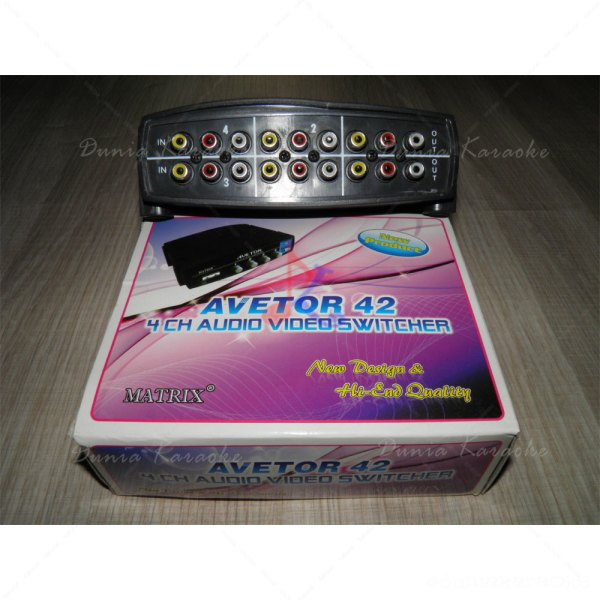 Avetor 42 Audio Video Selektor 4 Channel Switcher