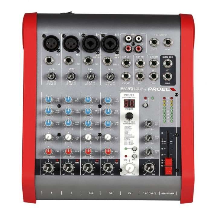 Mixer Proel M602FX with Digital Effect