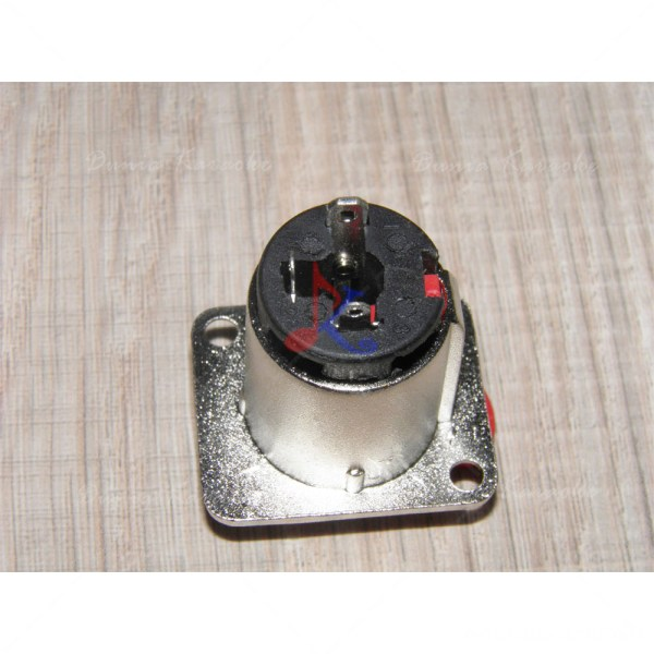 Phono Jack 6,5 MM Panel Socket Connector Female 3 Pin