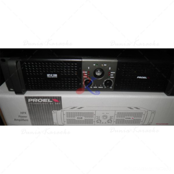Stereo Power Amplifier Proel HPX 1200