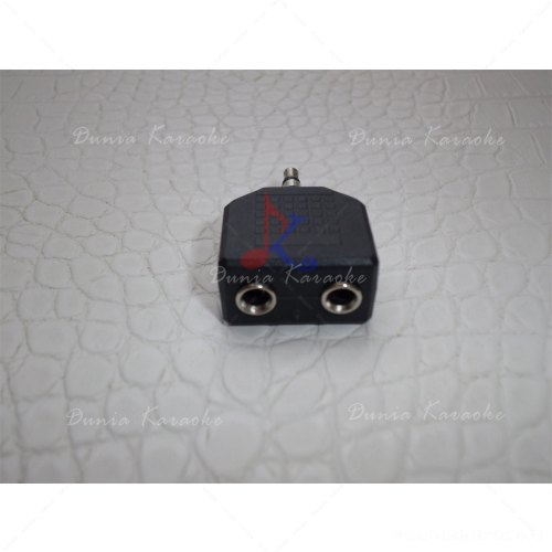 Jack 3.5 mm Male Stereo Plug to 2 x 3.5 mm Female Stereo Plug Splitter Adaptor