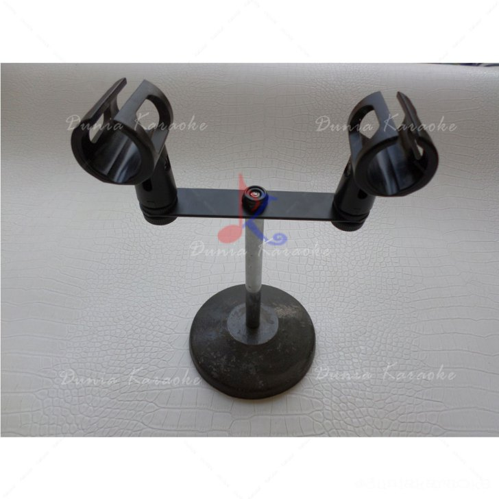 On Stage Stereo T-Bar Microphone Adapter Stand Universal Dual Holding Microphone Mount