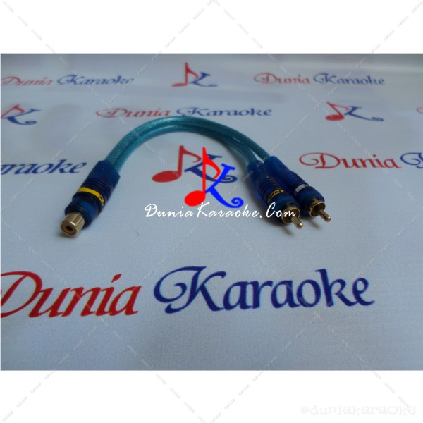 Kabel RCA Y Adapter Dynamitz Single Female RCA to Dual Male RCA