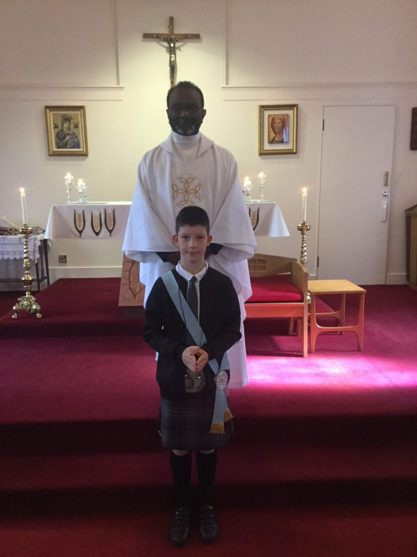 First Communion at Auchterarder