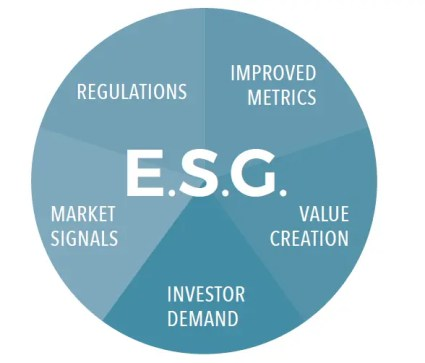 Sustainability in a business chart ESG