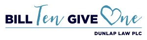 Dunlap Law Bill Ten Give One Logo