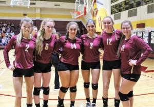 HC volleyball turns back Triton, 3-0, on Trojans' Senior Night