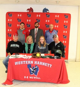 Madison Farmer of Western signs to play softball at Peace