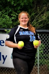 Varsity softball tunes up, middle school second in league tourney