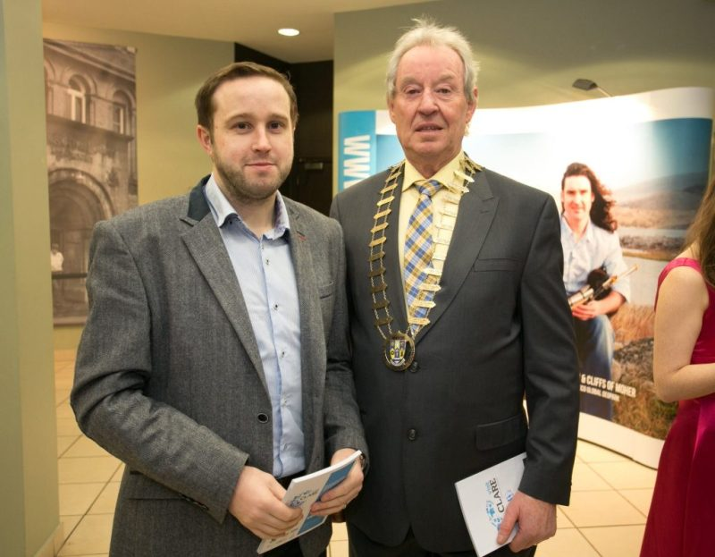 Mark Dunphy of Dunphy Communications pictured with former Mayor of Clare and Clare T.D. James Breen during a Clare Tourism launch