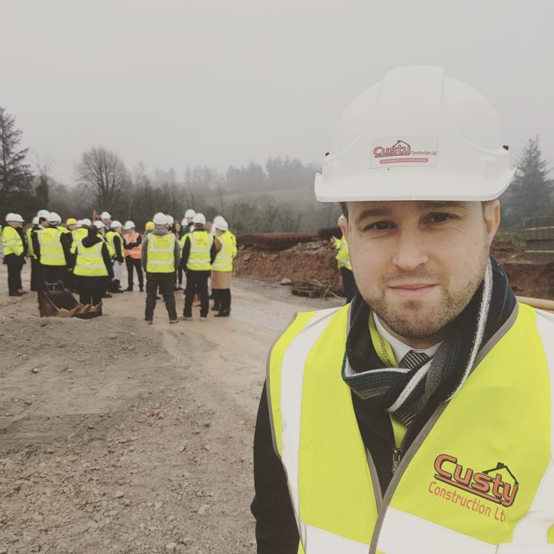 Mark Dunphy of Dunphy Communications pictured at the launch of the Feakle Housing Scheme in Clare