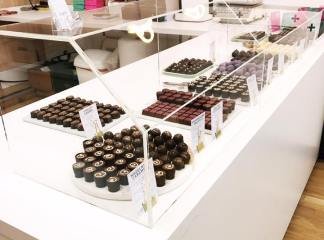 Chocolate shop counter