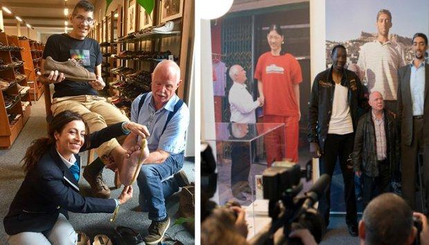 دنیا کے سب سے لمبے انسانوں کے جوتے بنانے والا خاندان