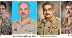 4 میجر جنرلز کی لیفٹیننٹ جنرل کے عہدے پر ترقی
