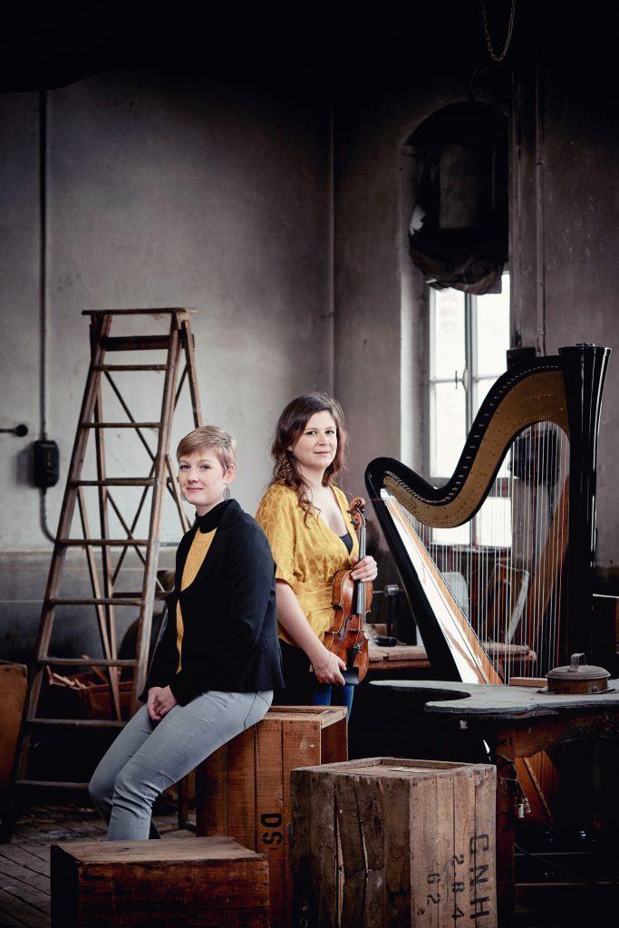 Duo-ambre harpe violone Anne Lombard Fanny Fuchs