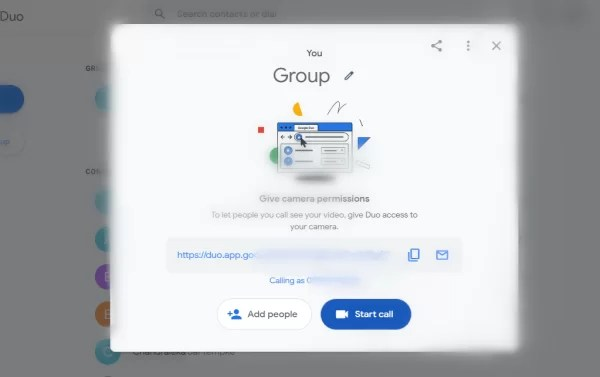 Create Group Video call