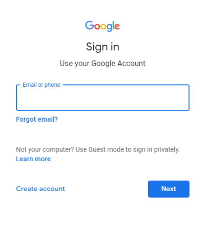 Enter Email-Google Duo web