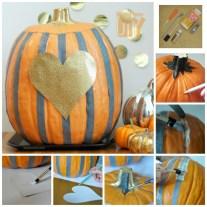 Heart pumpkin bowl
