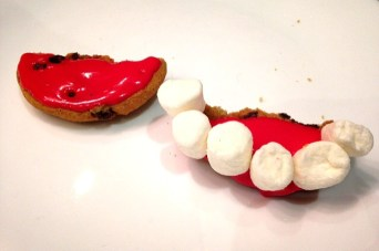 The two pieces for Dracula's dentures