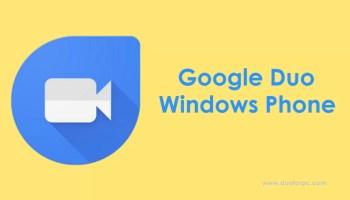 google duo no windows phone