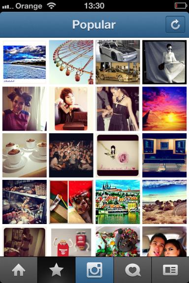 Popular - popularne zdjęcia na Instagramie