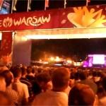 Mecz Euro2012 Polska – Czechy w Strefie Kibica w Warszawie