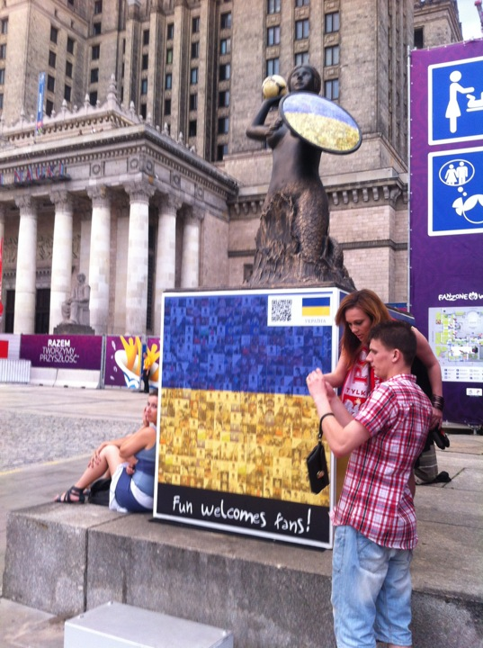 Ukraina Plac Defilad Warszawa Narodowe Warszawskie Syrenki Euro2012