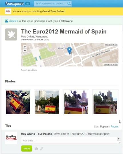 Warszawa Hiszpania syrenka na Foursquare - Euro2012 National Mermaids in Warsaw