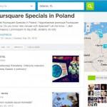 Lista Foursquare Specials w Polsce
