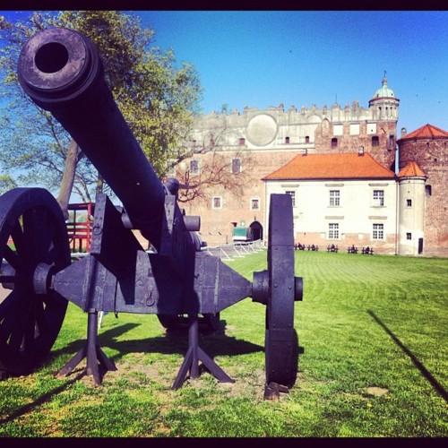 Armata przed zamkiem Anny Wazówny w Golubiu - Dobrzyniu nad Drwęcą