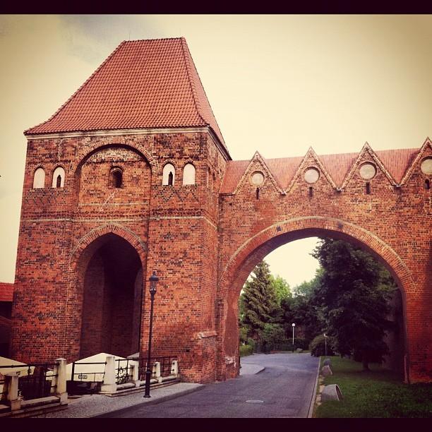 Gdanisko w Toruniu to część obronna i wc zamku krzyżackiego