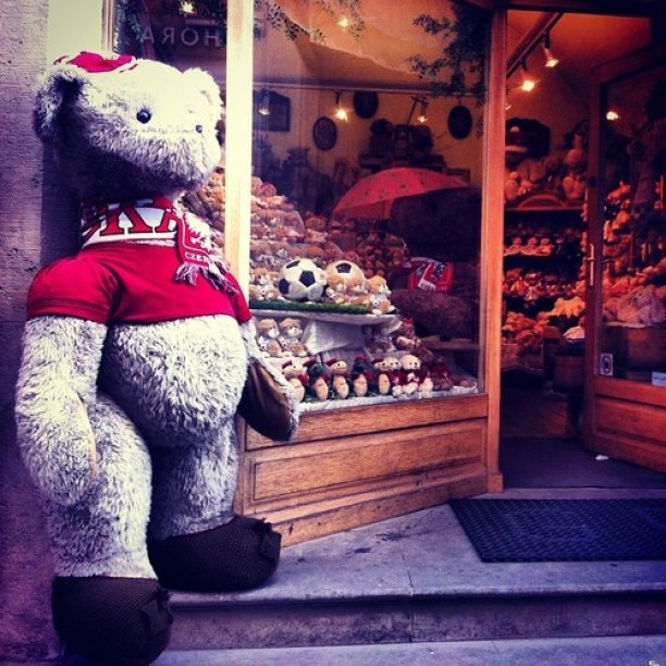 Krakowski sklep z miśkami w pobliżu Starego Rynku