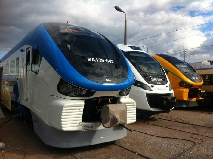 Pesa i Newag pociągi, lokomotywy, składy polskiej produkcji na Targach kolejowych TRAKO w Gdańsku Amber Expo