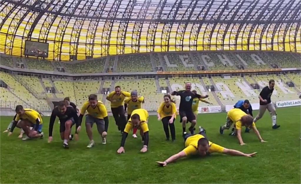 Mecz Piłki Blożnej na PGE ARENA w Gdańsku podczas Blog Forum Gdańsk 2012