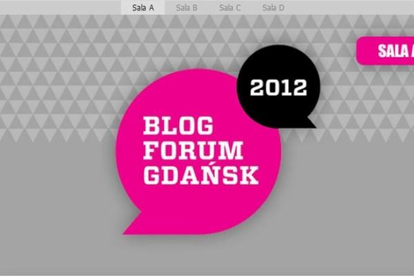Konferencja #BFGDANSK - Blog Forum Gdansk 2012 na żywo