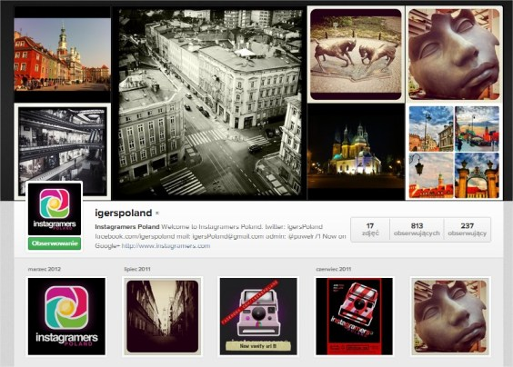 IgersPoland konto Instagram Paweł Ratajczak