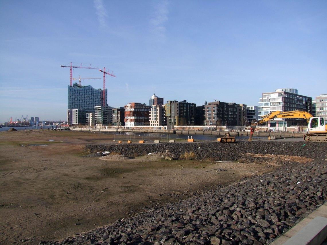 Projekty architektoniczne budynków tej części Strandkai dopiero powstają.