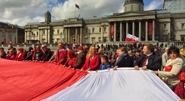 Dzień Flagi w Londynie Jan Żyliński