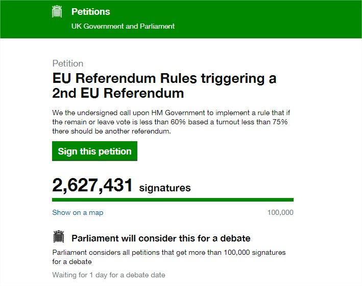 drugie-referendum-wielka-brytania-petycja-parlament