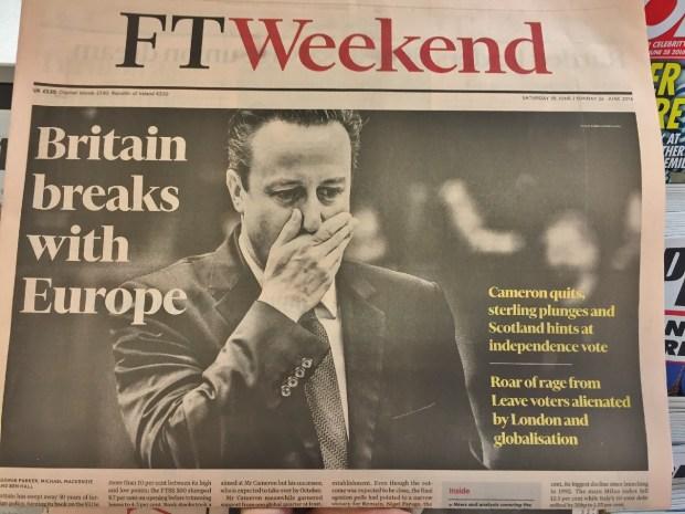 Financial Times Weekend - Wielka Brytania odrywa się od Europy