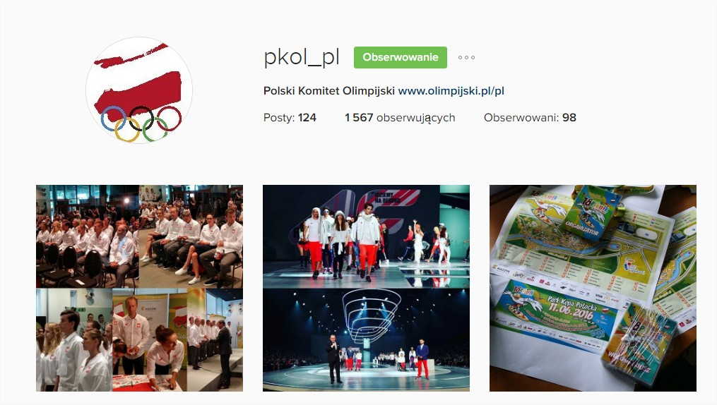 Polski Komitet Olimpijski na Instagramie #RIO2016