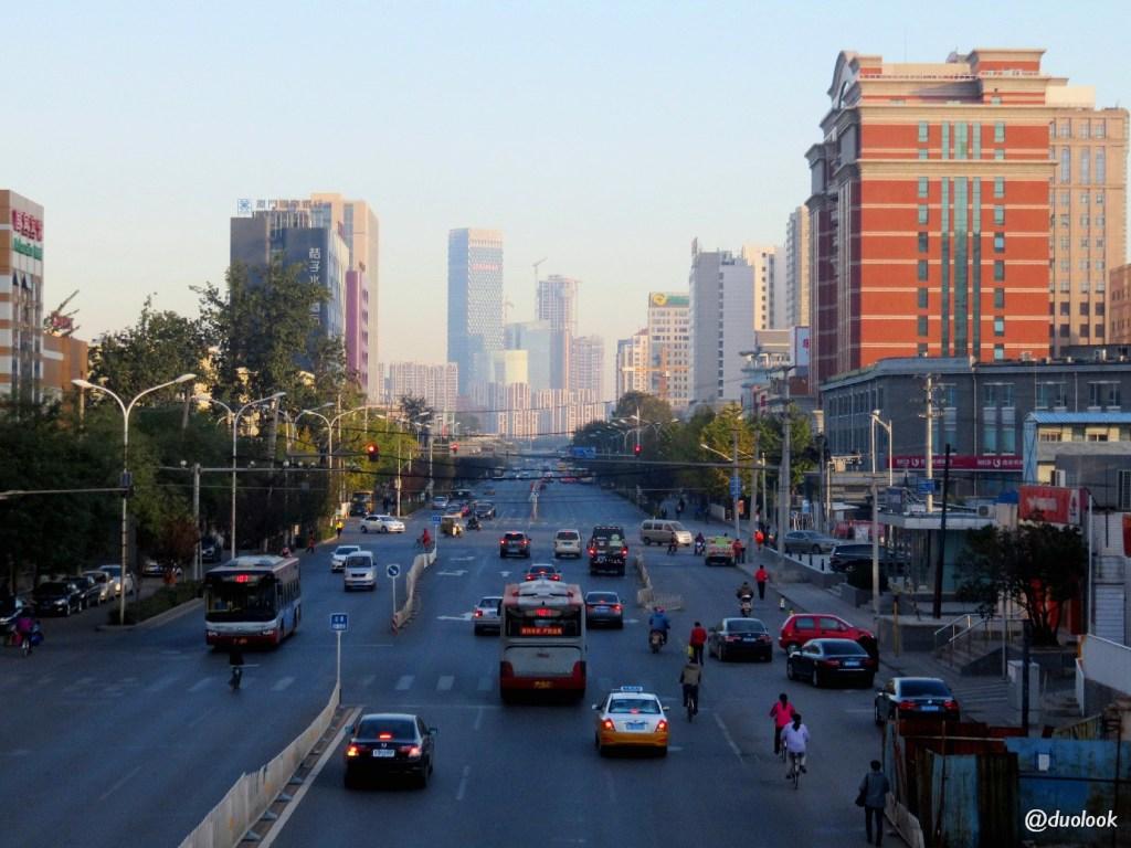 nowoczesne ulice pekin chiny jiangtai