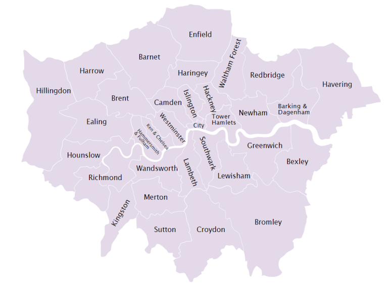 Dzielnice w Londynie