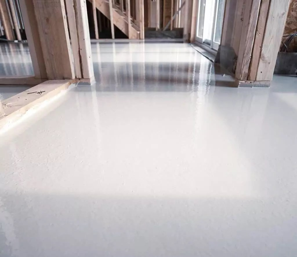 self leveling concrete poured floor